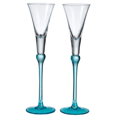 Tall Wedding Toasting Flutes (4 colors)