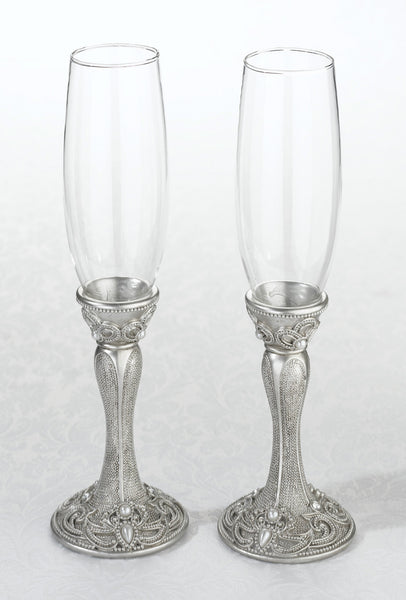Regal Elegance Wedding Toasting Flutes