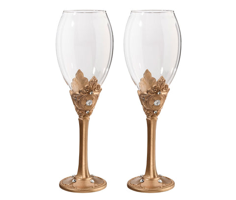Gold Wine Glass Set