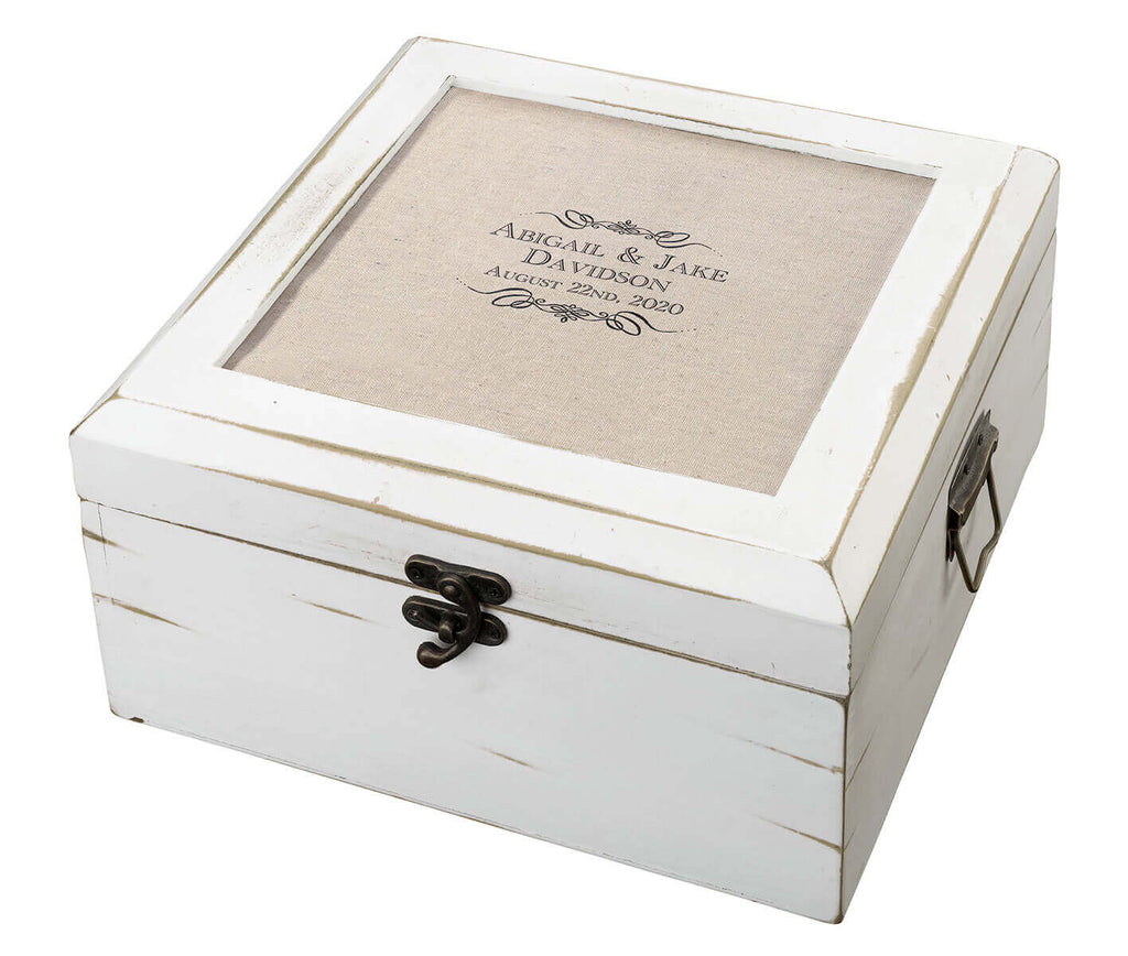 Antique Personalized White Card Box