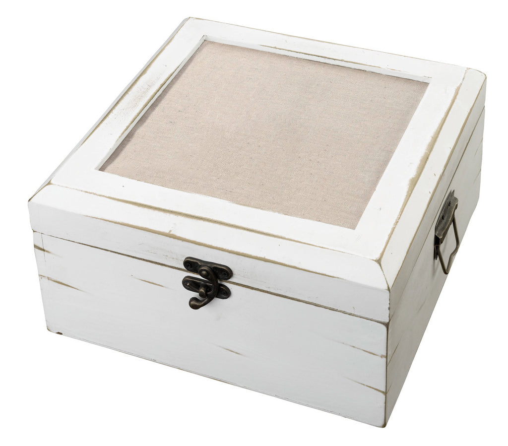 Antique White Card Box - Blank