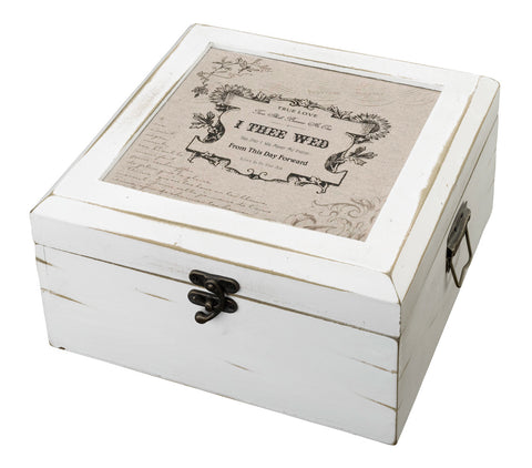 Antique White Card Box - True Love