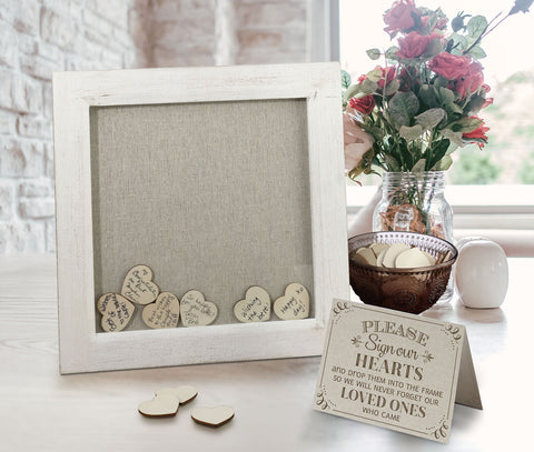 Small Guest Signing Hearts Frame
