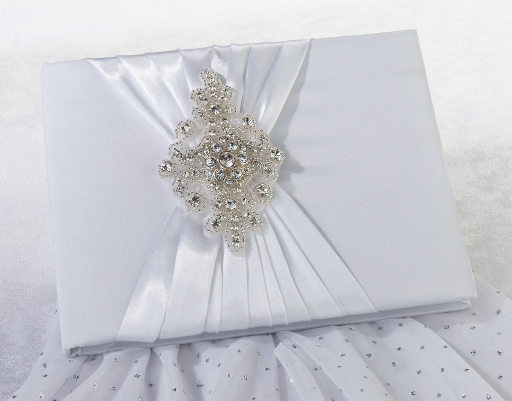 Jeweled Motif Wedding Guest Book