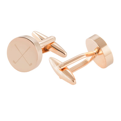 Golf Round Cuff Links