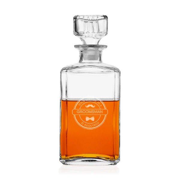 Groom's Wedding Party 34 oz. Beer Glass Decanter