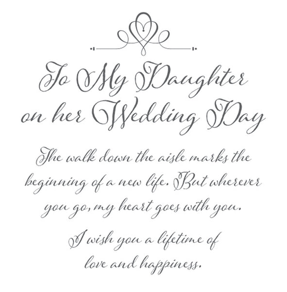 daughter wedding keepsake