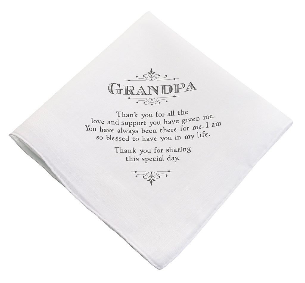 Grandpa Wedding Hankie