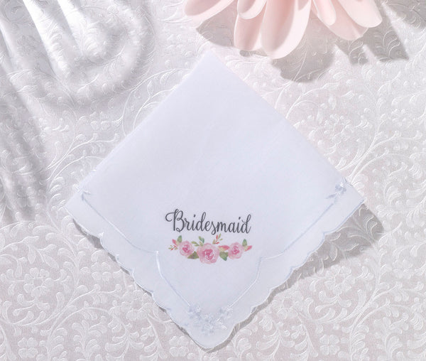 Watercolor Bridesmaid Hankie
