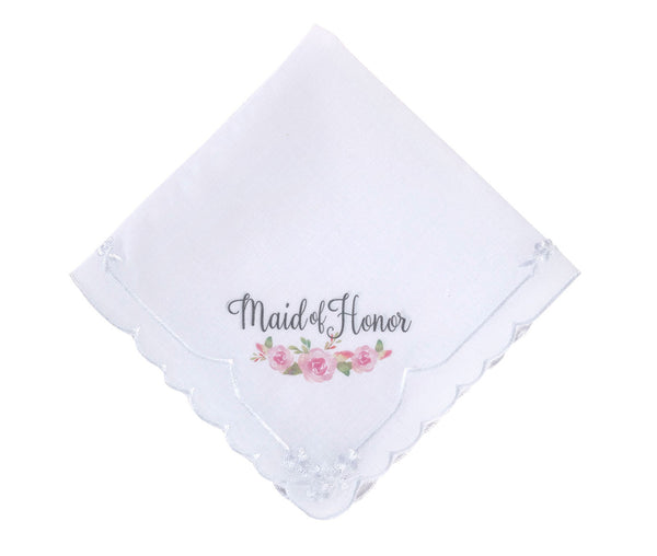 Watercolor Maid of Honor Hankie