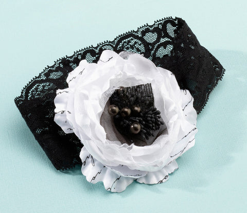 Black & White Wedding Garter