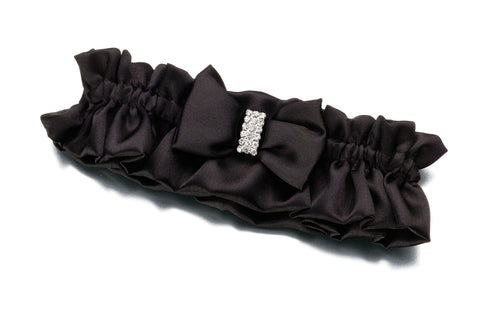 Black Rhinestone Wedding Garter