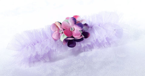 Radiant Flower Wedding Garter