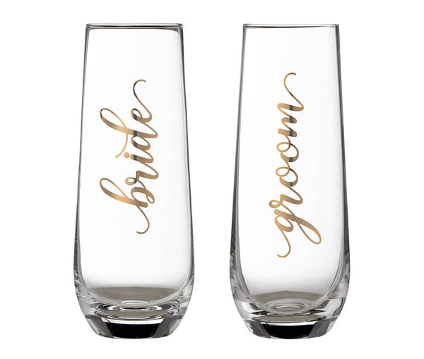 Bride & Groom Champagne Glass Set