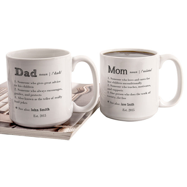 Definition of Mom & Dad Oversized Coffee Mug Set