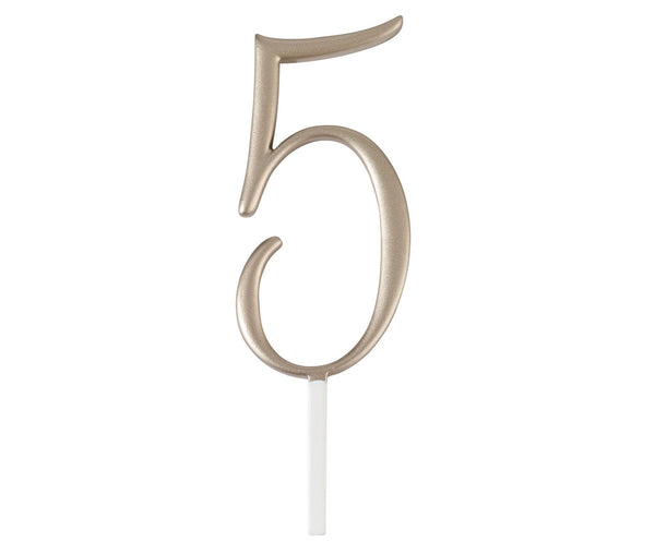 Gold Monogram Number Wedding Cake Topper