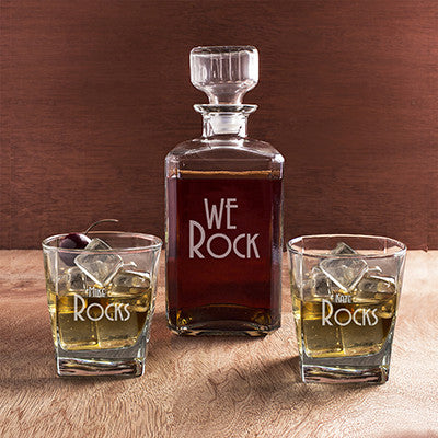 Personalized We Rock Decanter Set
