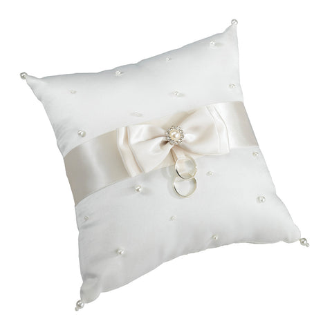 Ivory Scattered Pearl Ring Pillow