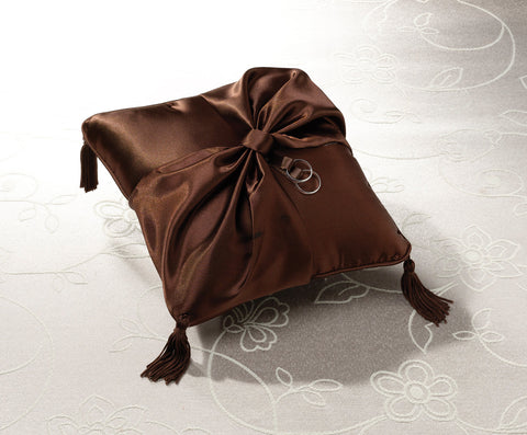 Brown Satin Ring Pillow