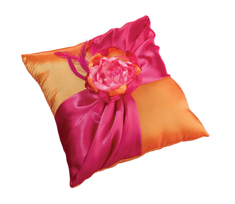 Hot Pink & Orange Ring Pillow
