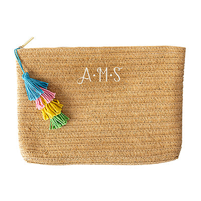 Straw Clutch Set with Tassel