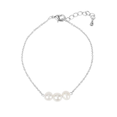 Wedding Party Three Pearl Bracelet