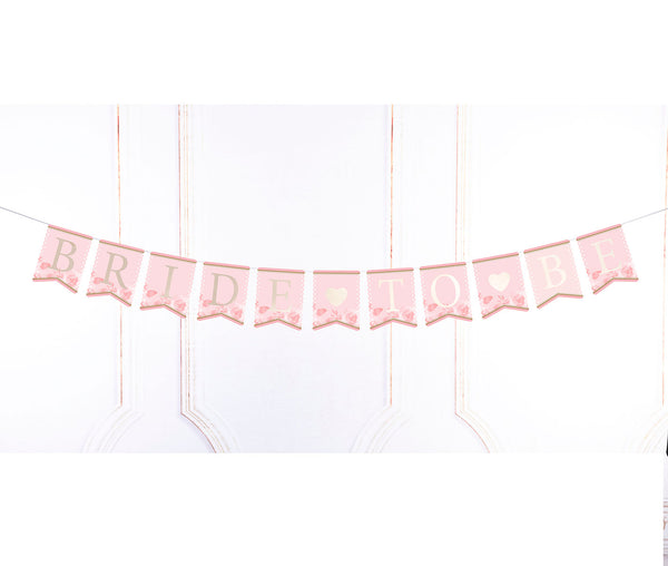 Pink & Gold Bride-To-Be Bunting