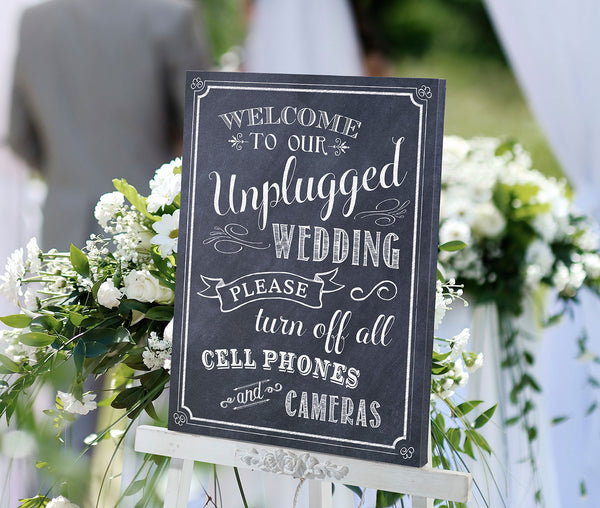 Unplugged Canvas Wedding Sign