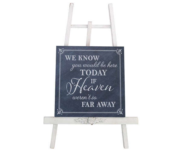 Here Today Canvas Wedding Sign