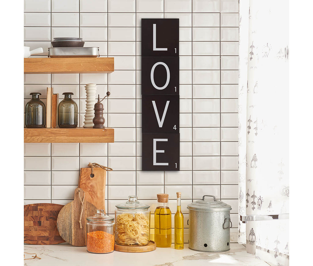 Scrabble Letter Wall Tiles LOVE Set
