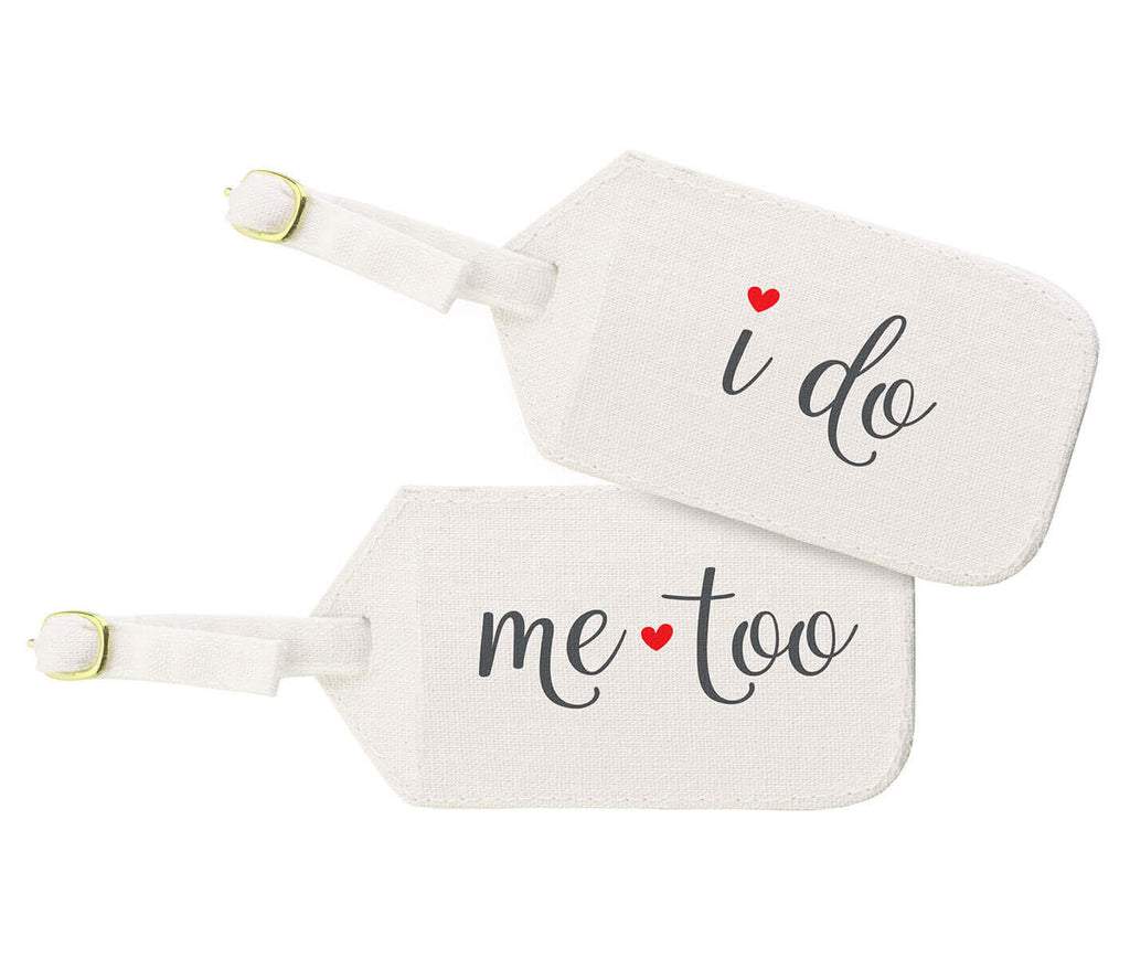 I Do, Me Too Luggage Tags