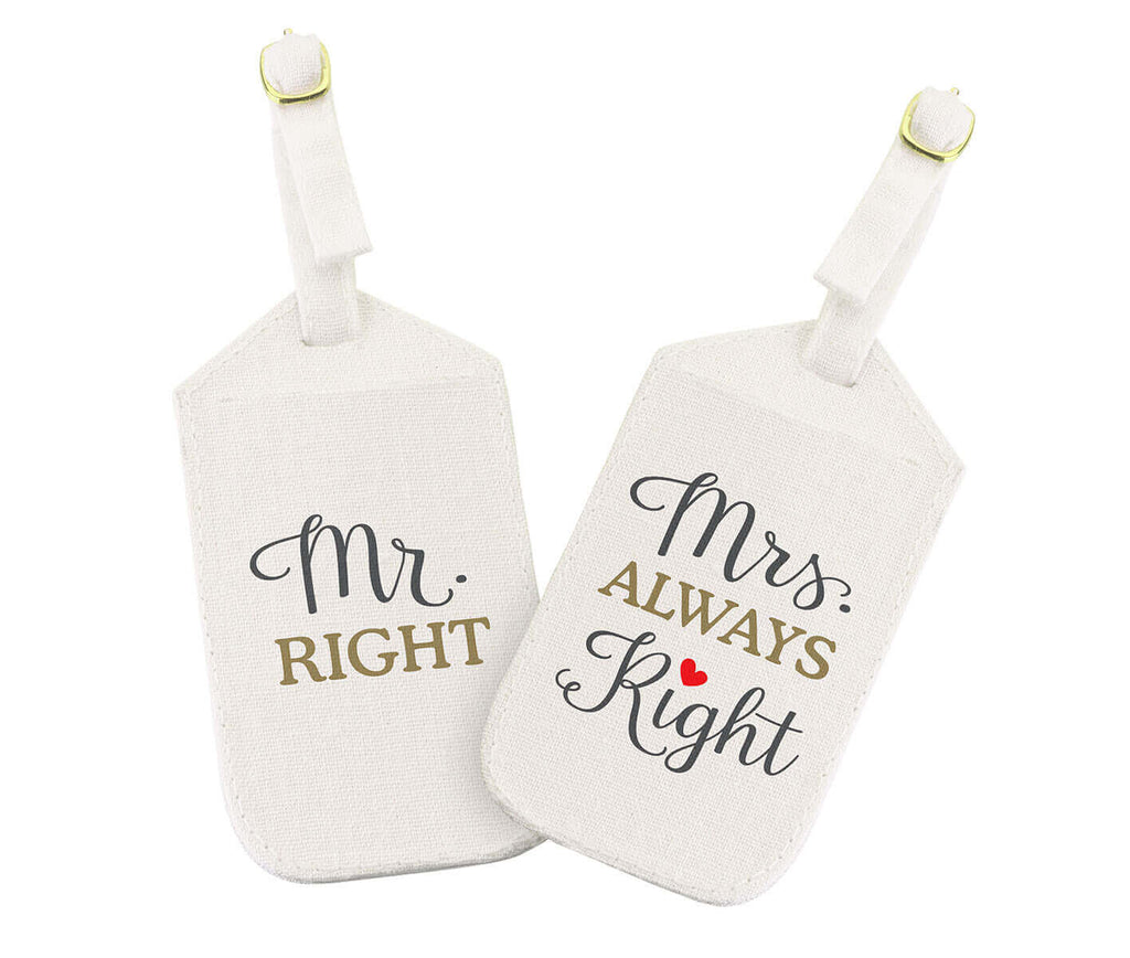 Mr. Right & Mrs. Always Right Luggage Tags