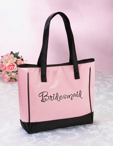 Pretty Pink Bridesmaid Tote