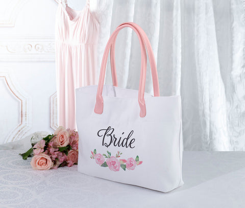 Watercolor Floral Bridal Party Tote Bag