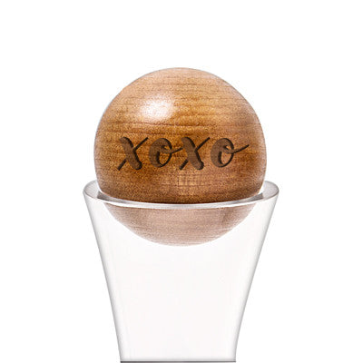 XOXO 67 oz. Wine Decanter with Wood Stopper