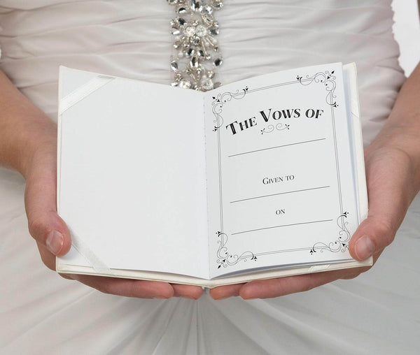 Ivory Satin Vows Books