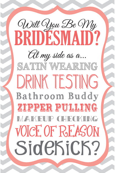 be my bridesmaid gift bag