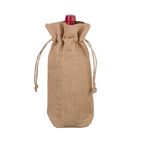 Rustic Burlap Bottle Gift Bag