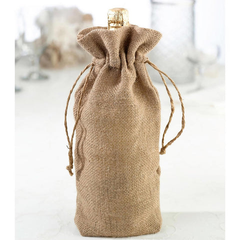 burlap bottle gift bag