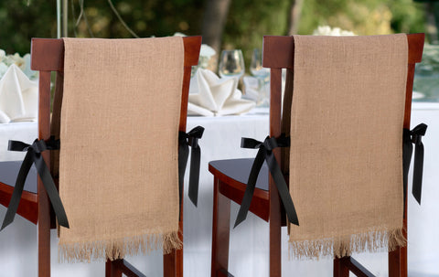 Burlap Chair Covers - Set of 2