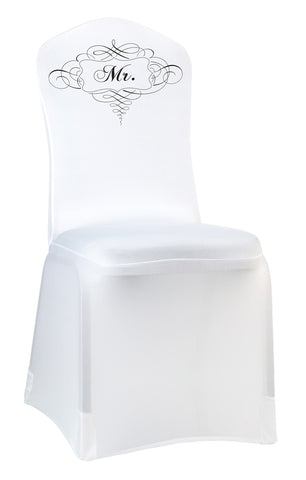 Mr. or Mrs. Chair Cover - White