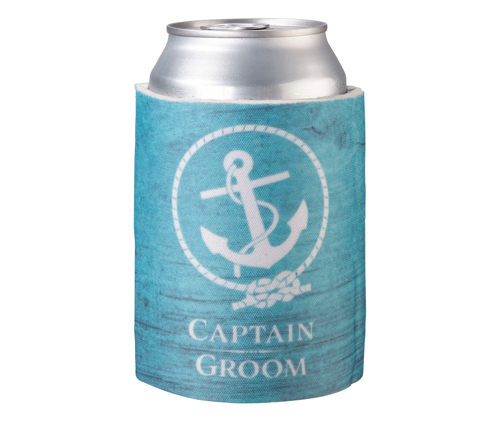 Captain Groom Can Cooler