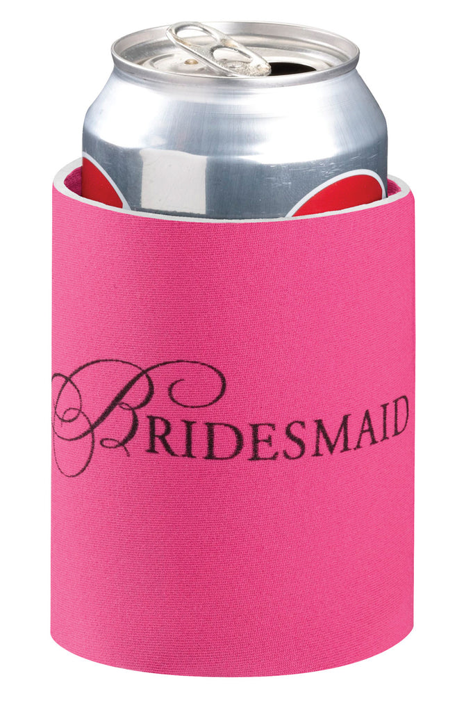 Pink Bridesmaid Can Cooler