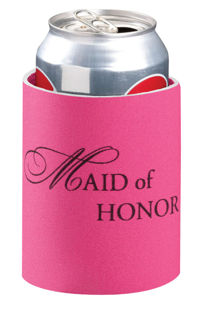 Pretty Pink Maid of Honor Can Cozy