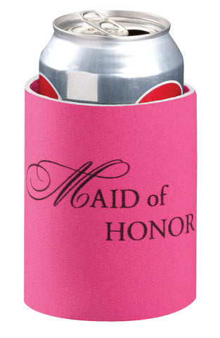 Pretty Pink Maid of Honor Can Cooler