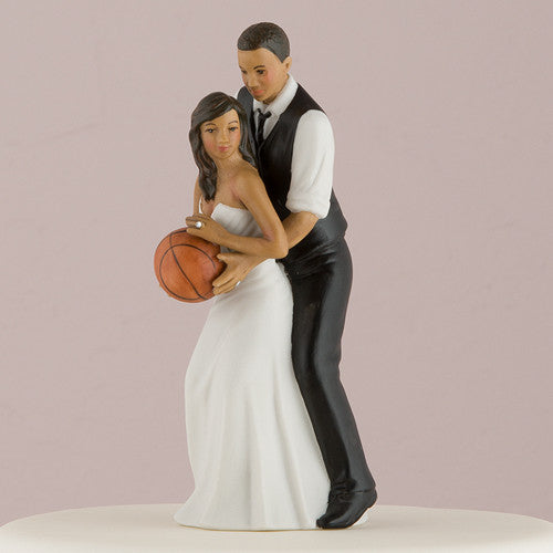 Dream Team Basketball Theme Wedding Cake Top