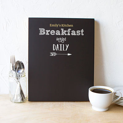 Breakfast Menu Chalkboard