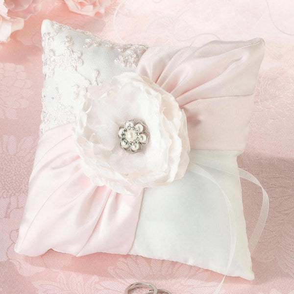 blush pink wedding ring pillow