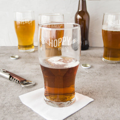 Beer Pun Pilsner Glasses - Set of 4