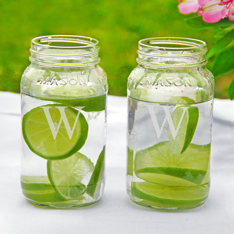 Mason Jar Drinking Glasses (Set of 2)